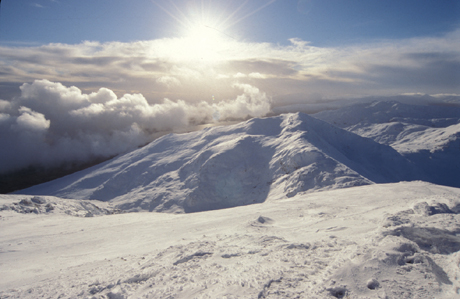 Beinn-Ghlas-from-Ben-Lawers-in-winter